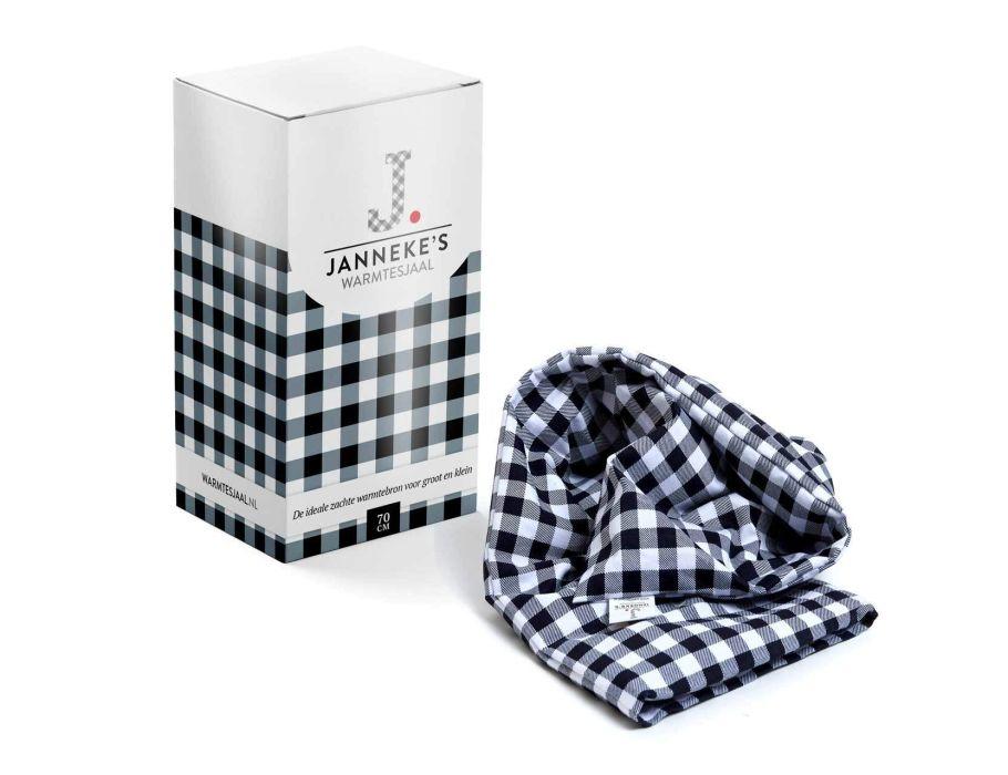 Jannekes warmtesjaal - Zwart