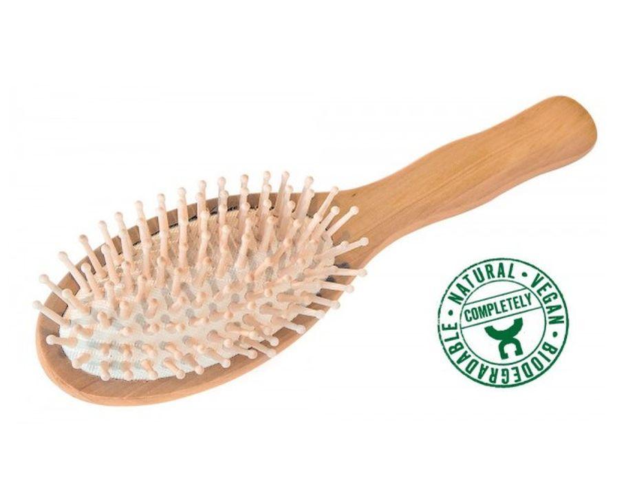 Haarbürste mit Holzknoppen