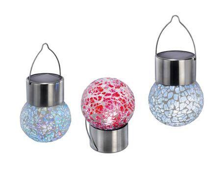 Hanglampjes set 3st led zon kleur crackle