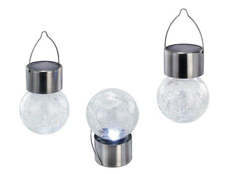 Hanglampjes set 3st led zon helder crackle