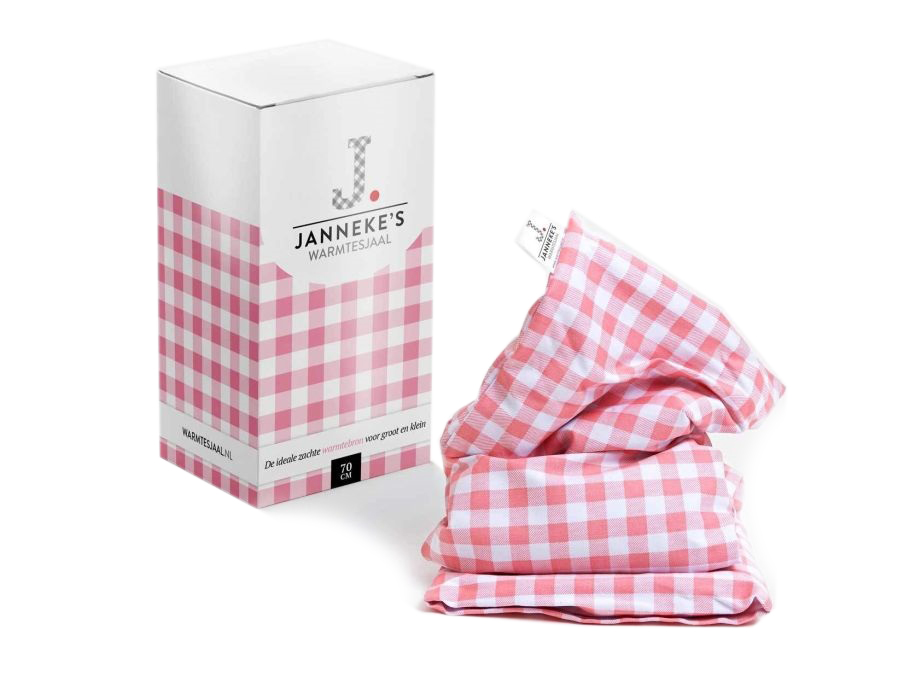 Jannekes warmtesjaal - Roze