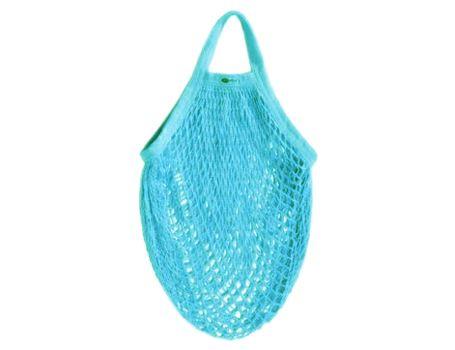 Katoenen boodschappentas - licht blauw