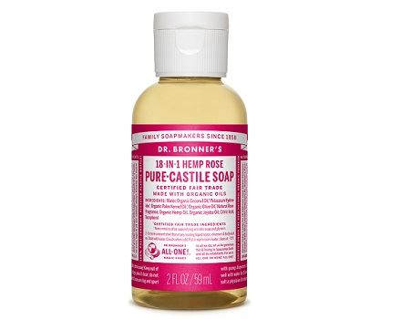 Dr. Bronner - 59 ml - Liquid Soap - Rose