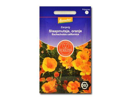 Biologische bloemen Slaapmutsje oranje