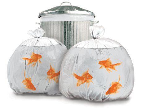 Dekorierte Müllsäcke