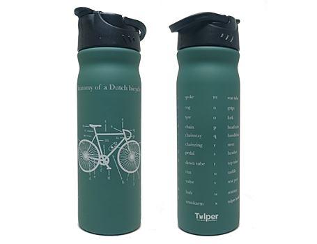 Trinkflasche Holländisches Fahrrad - Grün 500ml