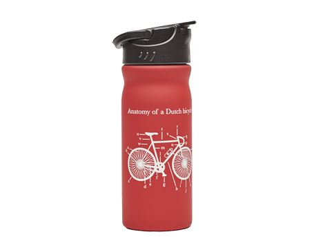 Fles Anatomy of a Dutch Bicycle Rood 400ml