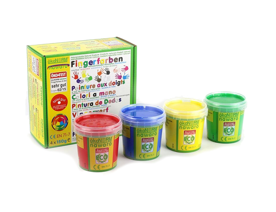 Vingerverf - 4 kleuren set A