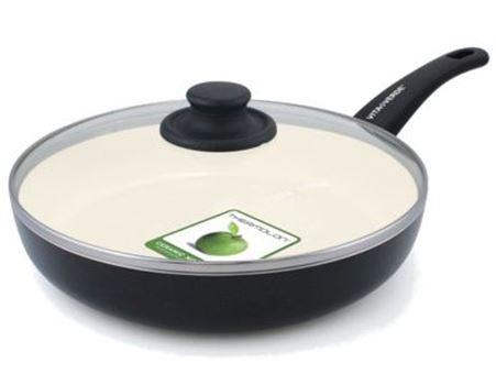 Koekenpan diep met deksel - Soft Grip - 24cm