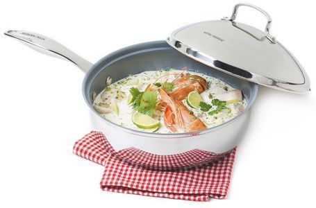Koekenpan diep met Deksel - RVS (inductie) - 24cm