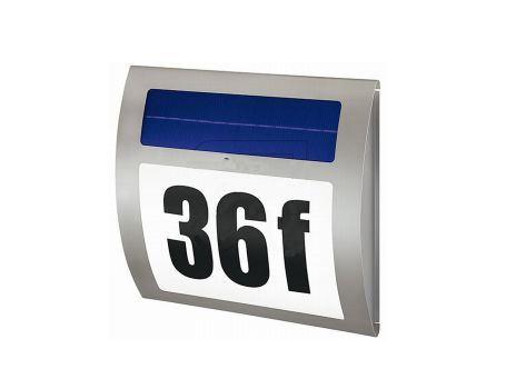 Huisnummerverlichting RVS - Solar