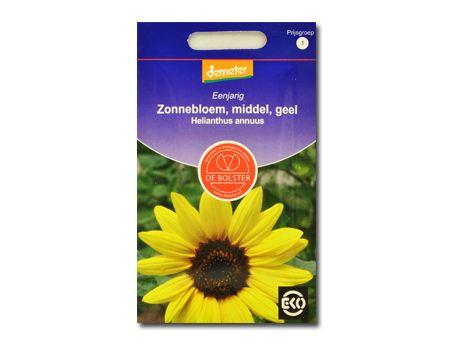 Biologische bloemen Zonnebloem geel