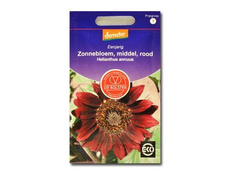 Biologische bloemen Zonnebloem rood