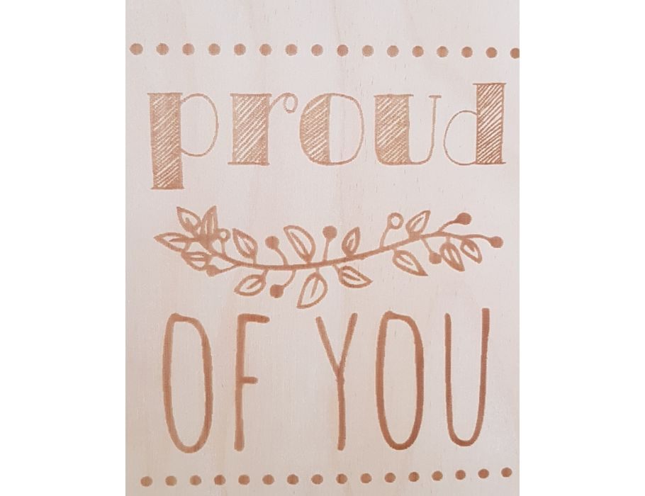 Houten briefkaart - 178 Proud of You