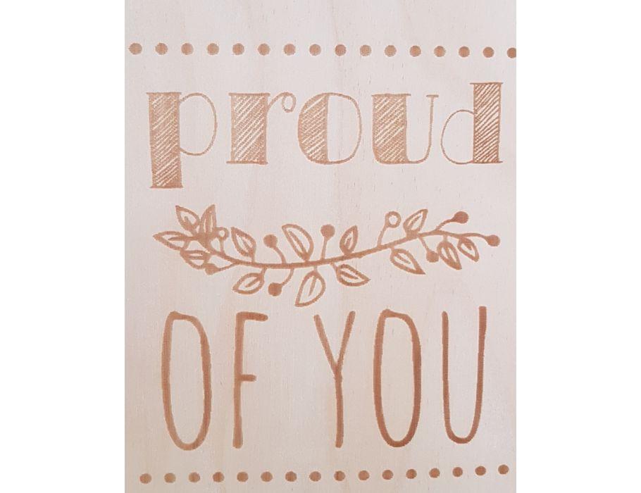 Set Houten briefkaarten - 178 Proud