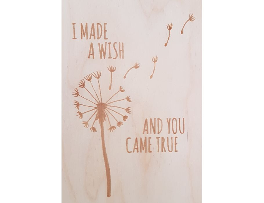 Set Houten briefkaarten - 137 Lovely wish