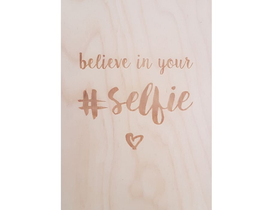 Set Houten briefkaarten - 214 Believe