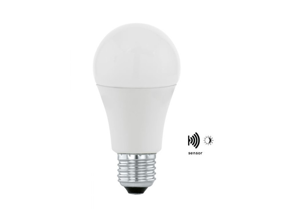Ledlamp - E27 - 806 lm - Dag en Nacht sensor - Bol - Mat