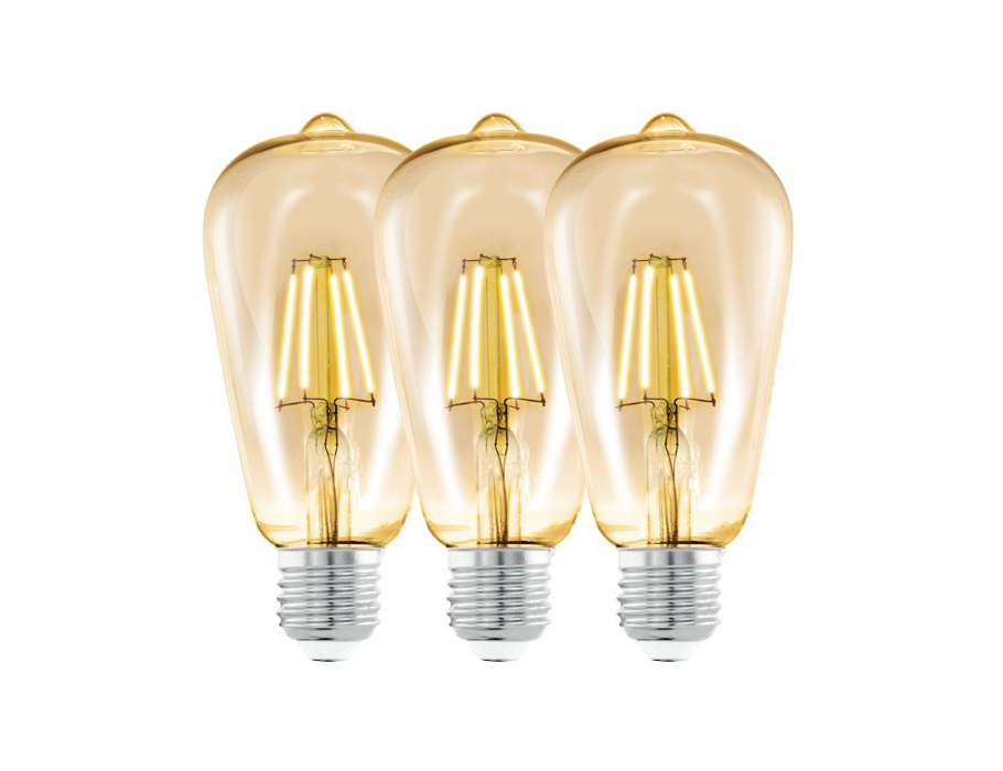 Set - 3pack - Led 4W - Amber 2200K