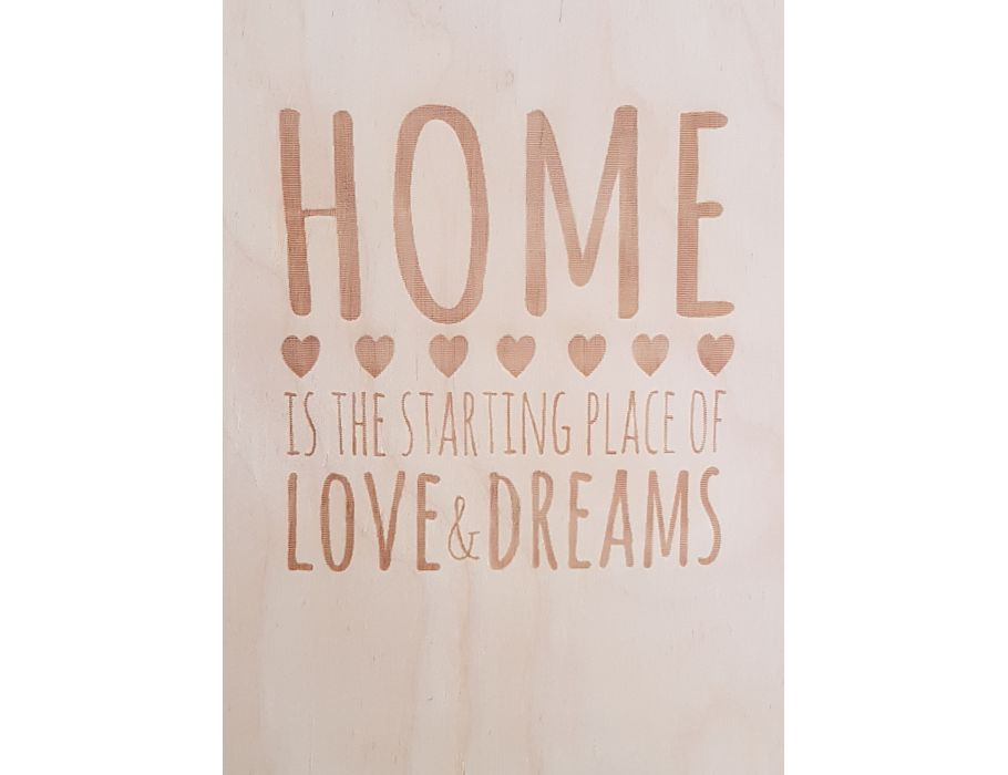 Fairtrade briefkaart home thuis love dreams