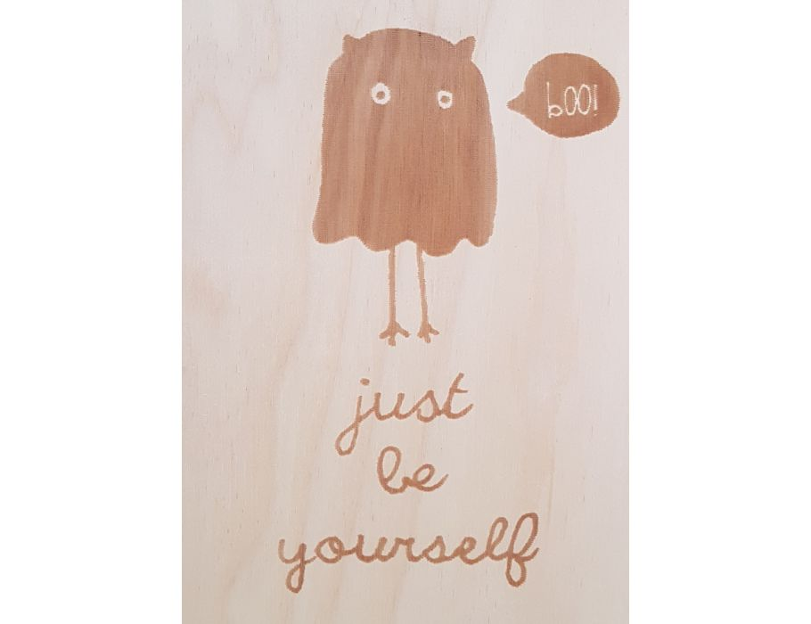 Houten briefkaart - 58 Be Yourself