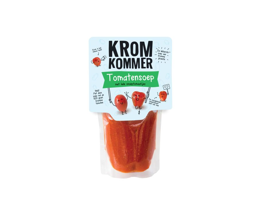 Tomatensoep met hele snoeptomaten