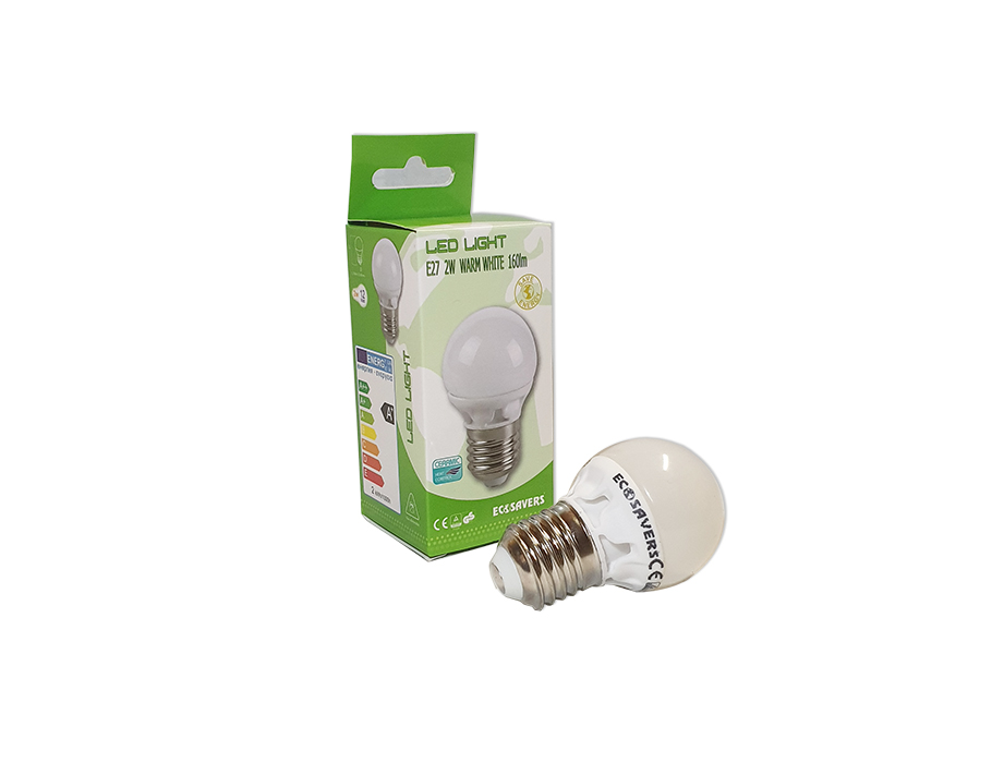 Ledlamp - E27 - 160lm - 2W - Warm White