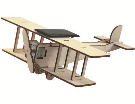 Bouwpakket - Dubbeldekker vliegtuig met zonnepaneel