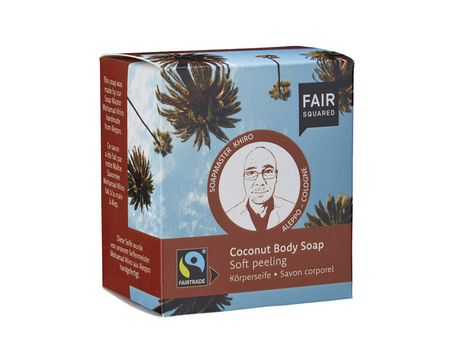 Body soap coconut - soft peeling - 2x 80 gr