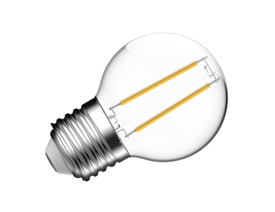 Led-Lampe - E27 - 4700 lm - Kugel - klar