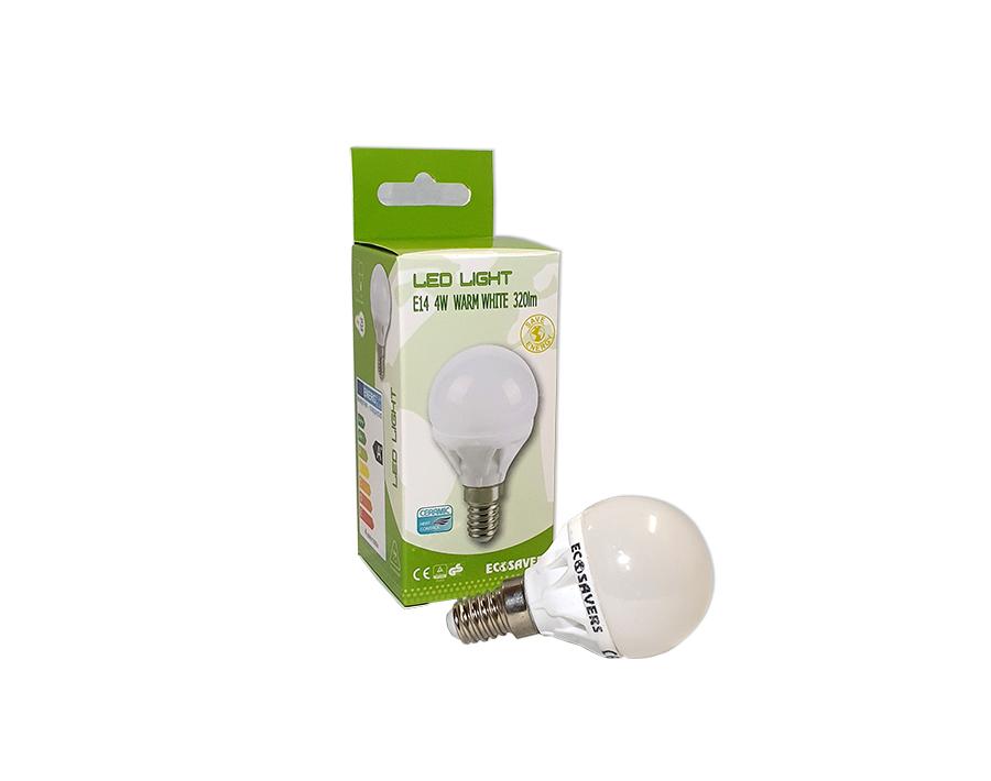 Ledlamp - kleine fitting - 320 lm - miniglobe