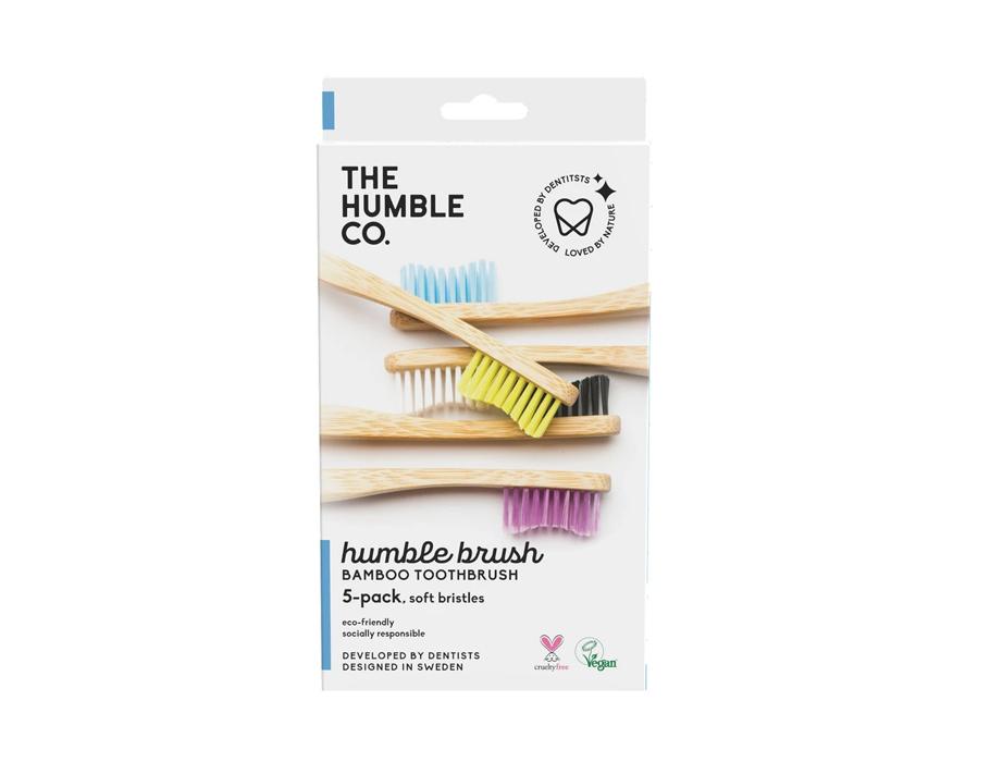 Bamboe tandenborstels - soft - 5 stuks