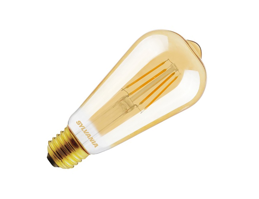 Ledlamp - RETRO - E27 - 420 lm - ST64 Rustique - helder goud