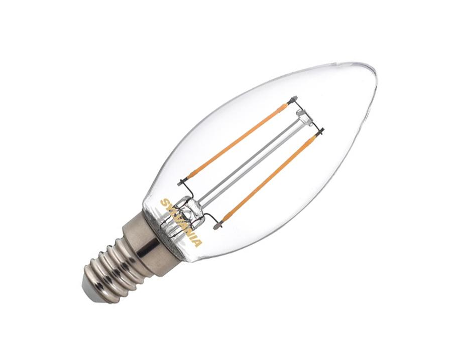 Led-Glühbirne - E14 - 250lm - Kerze - klar