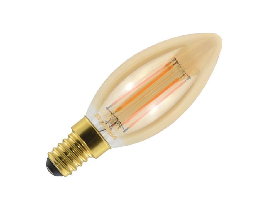 Led-Glühbirne - RETRO - E14 - 420lm - Kerze - helles Gold