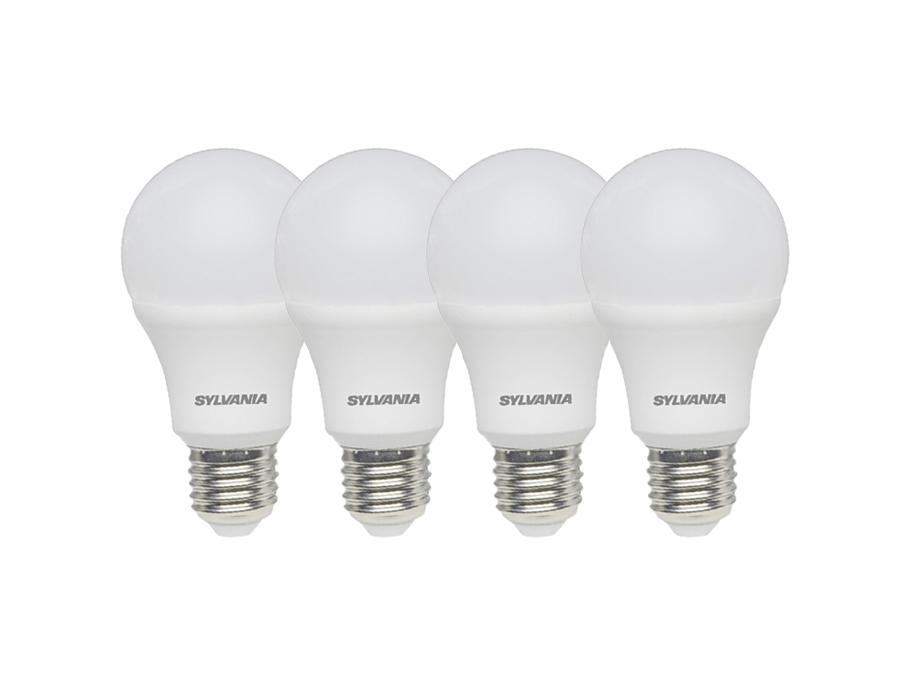 Ledlamp - E27 - 806 lm - Bol - Mat - 4 stuks