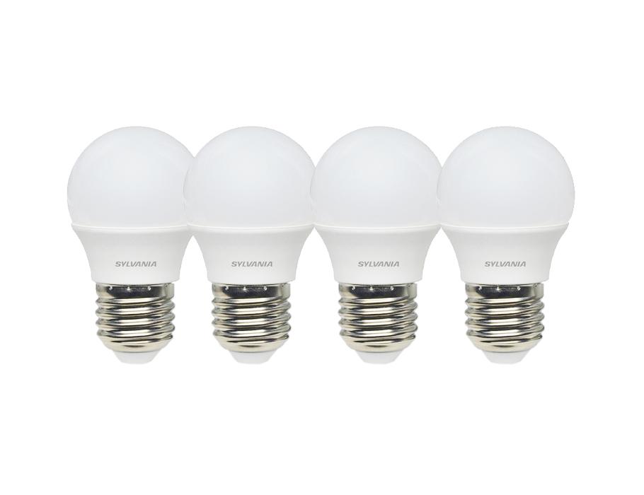 Led-Glühbirne - E27 - 470 lm - kugel - matt 4 Stück