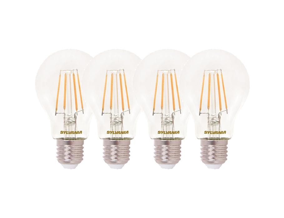 Led-Lampe - E27 - 806 lm - Glühbirne - Klar - 4 Stück