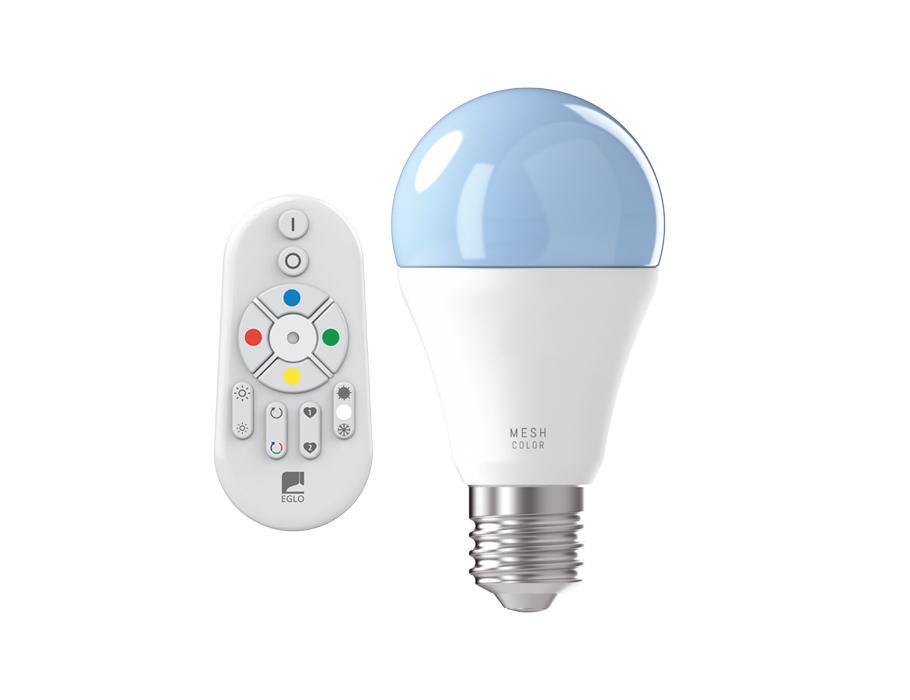 Led-lampe - E27 - 806 lm - Glühbirne - Matt - Smart - Inklusive Fernbedienung