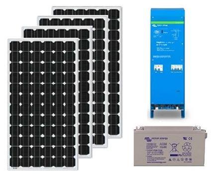 Zonnepaneel pakket met accu 520wp - 230V en MPPT