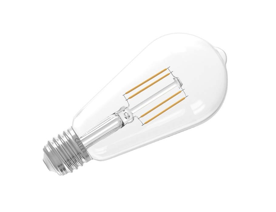 Led-Lampe - E27- 600 lm - Länglich - hell