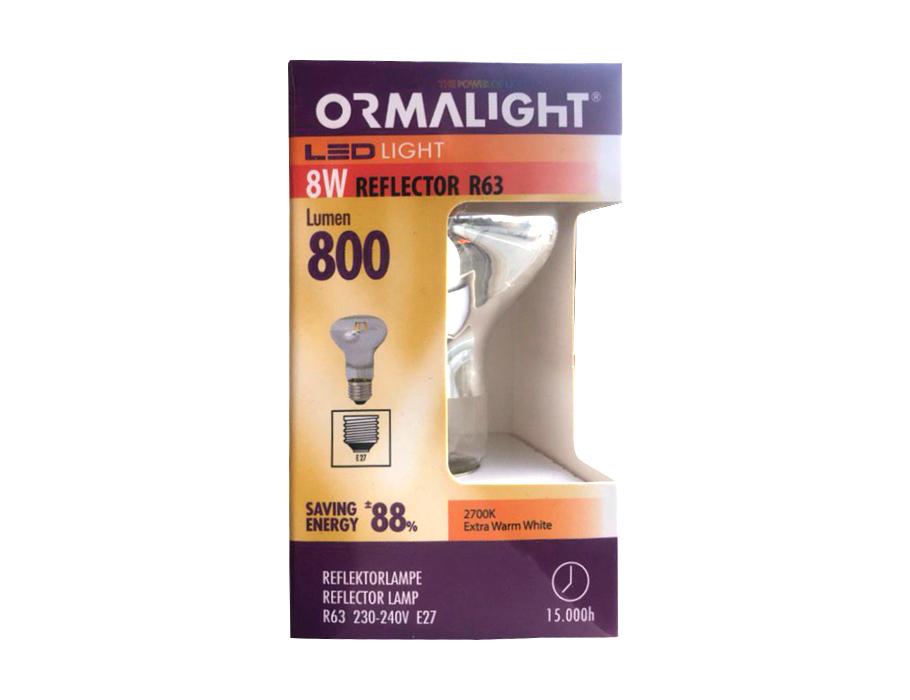 Ledlamp - R63 reflector - 8W - 800L - E27