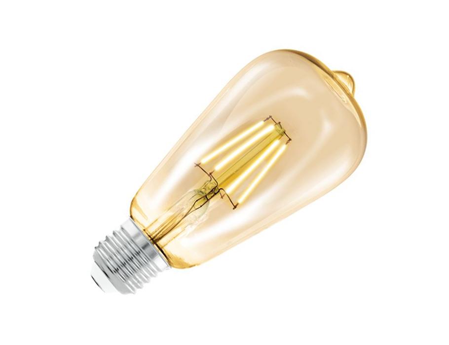Ledlamp - E27 - 220 lm - ST64 Rustique - Amber 2200K