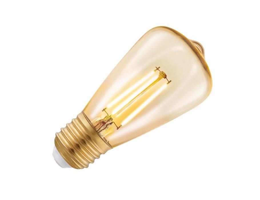 Ledlamp - E27- 220 lm - ST64 Rustique - Amber 2200K