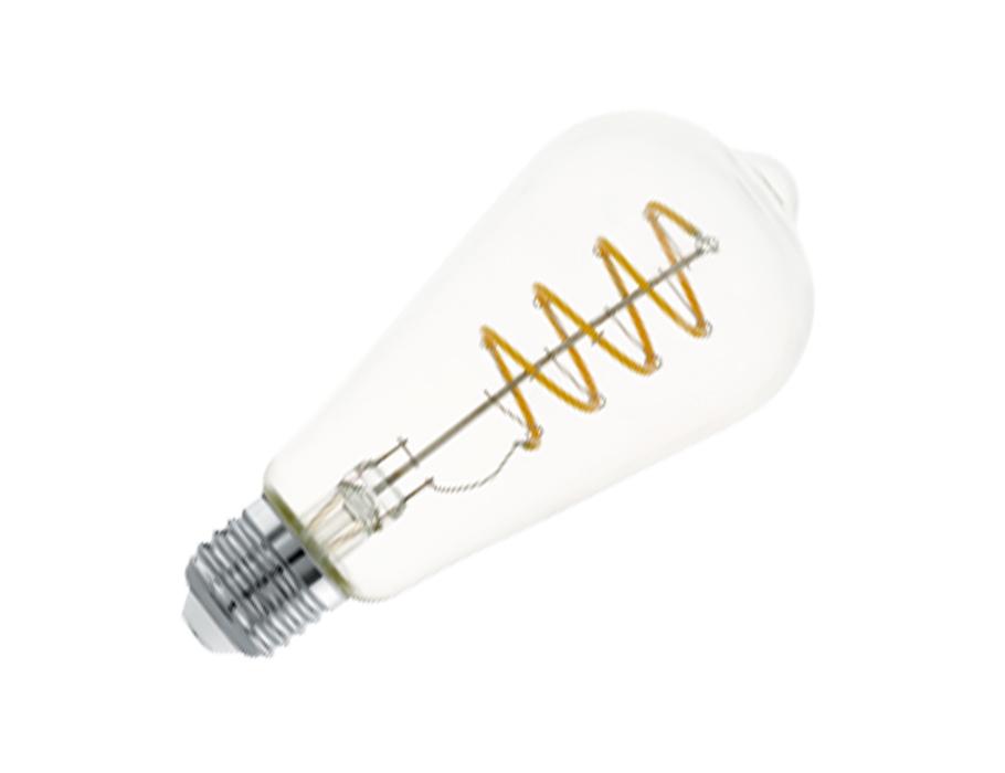 Ledlamp - E27 - 400 lm - ST64 Rustique - Amber 2700K
