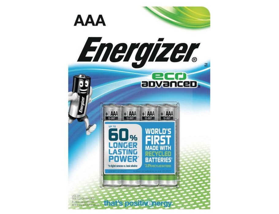 Batterij eco AAA - 4st
