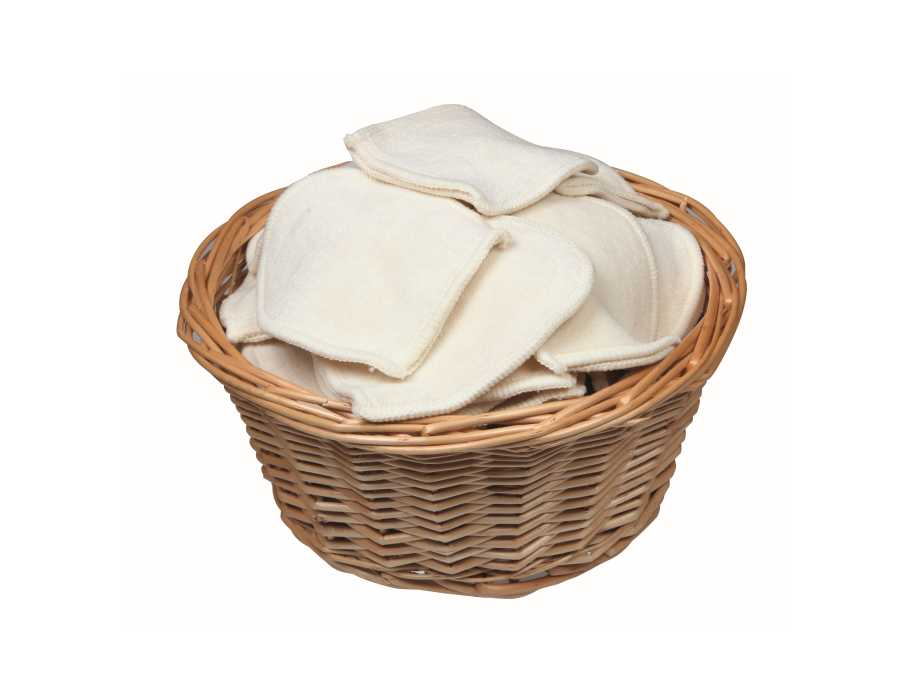 Wasbare mini washandjes in bulk - 50 st.