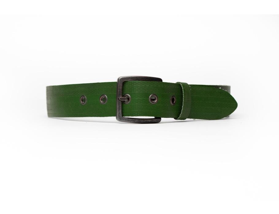 #110 Brandweerslang riem - groen - 4x85 cm