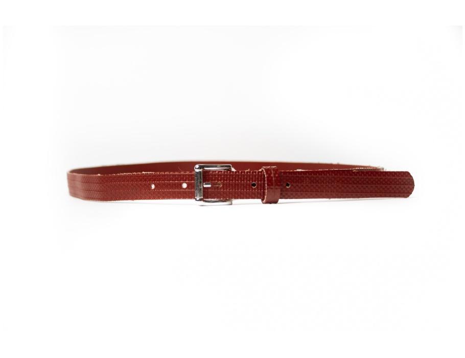 #112 Brandweerslang riem - rood/zilver - 2x85 cm (dames)