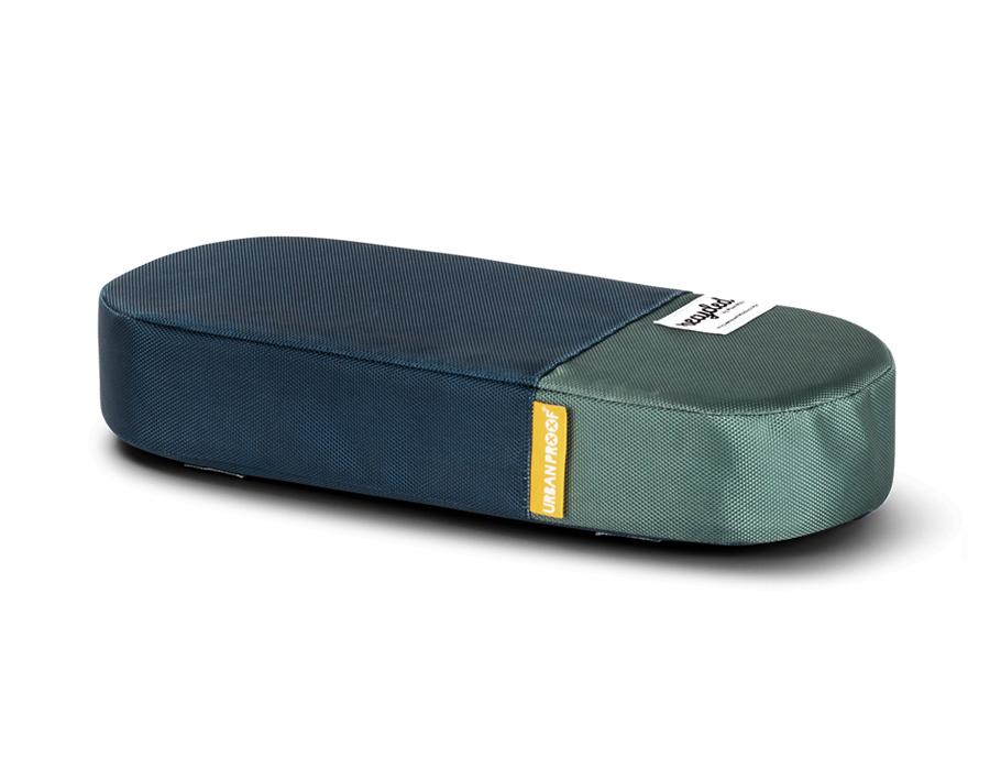 Bagagedrager kussen - blue green